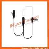 Ricevitore telefonico acustico del ricevitore telefonico del tubo del walkie-talkie per la radio della polizia