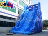 Голубое гигантское раздувное скольжение для спортивной площадки