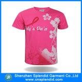 T-shirt personalizado da impressão da forma das mulheres roupa por atacado