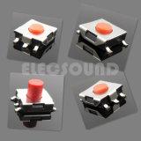 Interruttore di tatto del chip con colore rosso rotondo di Pin della maniglia 4 di 6.2*6.2mm