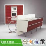 Cabina de cocina caliente de la laca del negro de la apertura del precio de la fabricación