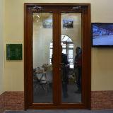 Puerta de madera de aluminio del marco Kz207 con el bloqueo multi