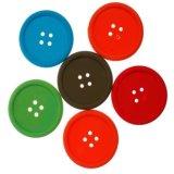 Prácticos de costa multicolores creativos del botón del silicón