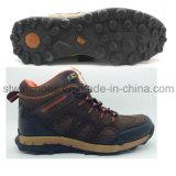 Ботинки самой дешевой синтетической кожаный обуви безопасности напольные