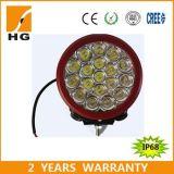 Le ce a reconnu la lumière ronde de travail du rouge DEL de puce du CREE IP68 6 '' 90W pour le véhicule