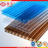 Doble pared policarbonato hueco Hoja de invernadero de plástico paneles solares