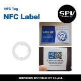 Pegamento NTAG216 ISO14443A del animal doméstico del HF 13.56MHz de la etiqueta de NFC
