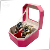 LuxuxHandmade Custom 2 Slots Watch Box mit Glass Window