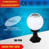 アルミニウム1W- 3W白い球の陰の太陽ポストライト