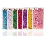 プラスiPhone 7/7のための耐震性OEM歓迎されたTPUのピンクの液体のきらめきの電話箱(XSDD-003)