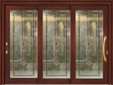 Customzied 2015 Double Glazing Glass Aluminum Door con Roller Shutter