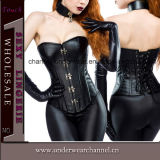 Reizvolles Women Leather Bodysuit mit Skirt Lingerie Corset (TA9192)