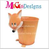 良質Foxデザイン庭の金属プランター