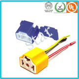 Conector de cerámica de color amarillo eléctrico de 3 clavijas H4-2A