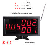 Фонический вызов System кельнера для Restaurant Calling Service с Waterproof Table Call Button