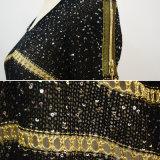 Рубчик широкой шеи женщин несимметричный Stripes свитер