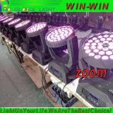 Colada principal móvil ligera ULTRAVIOLETA DJ del zoom 6in1 LED del LED