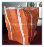 4 laços cercaram inteiramente 0.5-3mt o saco grande alaranjado do colosso FIBC