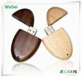 Carte mémoire Memory Stick en bois d'USB avec la garantie de capacité totale et de 1 an (WY-W16)