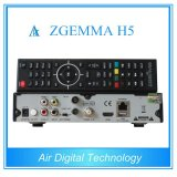 Sintonizzatori gemellare doppi pieni dell'ibrido DVB-T2/C di OS E2 Hevc/H. 265 DVB-S2+ di Linux di memoria del contenitore di cavo dei canali alti & del CPU di Zgemma H5 della ricevente