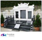 De zwarte Grafsteen van de Stijl van het Graniet Rechte Chinese, Grafsteen