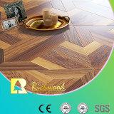 チークのコマーシャル8.3mmのヒッコリーの材木のV溝がある音- Laminbatedの吸収の積層の床