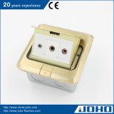 Soquete elétrico universal e plugue da face a mais nova do cobre da caixa do soquete do assoalho do projeto com Ce