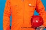 Bata larga del Workwear de la funda de la seguridad barata de la alta calidad del poliester 35%Cotton del 65% (BLY1022)