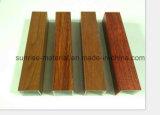 Perfil de alumínio para o folheado de madeira da parede de cortina da grão