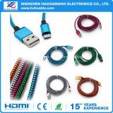 Braided алюминиевый шнур кабеля заряжателя USB Data&Sync Micro для сотового телефона