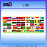 Le véhicule arrête l'indicateur de pays bon marché de drapeau fait sur commande d'indicateur national