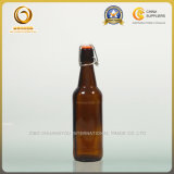 500mlブラウンの振動上ビールガラスビン(418)