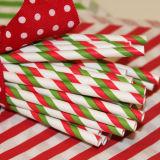 Paille à boire de papier de fête de Noël pour le boire