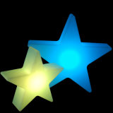 La noche de la estrella del LED enciende luces con pilas del vector