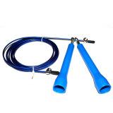 Cuerda de salto negra, azul, roja de Crossfit de la cuerda de salto del cojinete del equipo de la aptitud que salta Uic-Jr08