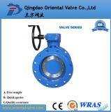 China-Hersteller Dn50 flanschte doppeltes Exzenterdrosselventil