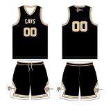 ベガスの金カラーCavs (DPBJ-0015)のための涼し乾燥したカスタムバスケットボールチームジャージー