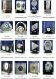 Reloj de aluminio del escritorio, reloj de vector