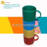 昇進の光沢があるカラーギフト用の箱が付いているスタック可能陶磁器のコーヒー・マグ