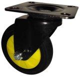 4-5 da roda silenciosa do rodízio da polegada TPR rodas industriais para o trole