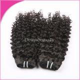Heißes verkaufenhaar, das peruanisches lockiges menschliches Jungfrau-Haar spinnt