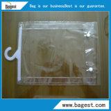 Bolso del PVC de la materia textil con la bolsa de plástico impermeable del gancho de leva para la ropa