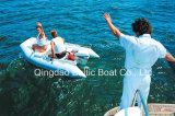 Rib Rowing Speed Sports Rigid Hull Fishing Rubber Inflável Rowing Motor Fiberglass Tender Dinghy Barco para Iate e Barcos a motor