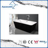 Vasca da bagno acrilica indipendente del quadrato nero di bordi (AB1506B-1500)
