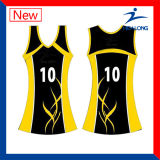 Healong ODM  Vestido cheio do Netball das senhoras do Sublimation