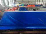 Roulis bleu en plastique de bâche de protection de la Chine, roulis de bâche de protection de PE