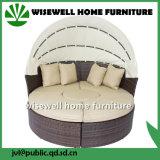 Mobília de vime do sofá do pátio do Rattan com dossel (WXH-008)