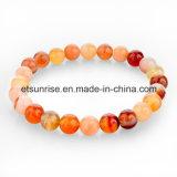 Bracelete de cristal Jewellry do encanto de Gemstone da forma da pedra Semi preciosa