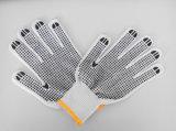 Перчатка работы безопасности многоточий PVC раковины T/C (D1101)