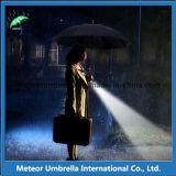 Paraguas recto de destello abierto de la lluvia de iluminación del Special LED del automóvil de la manera